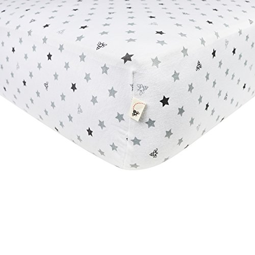 Burts-Bees-Baby-Jersey-Fitted-Crib-Sheet-Star