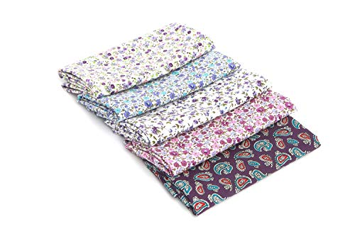 RayLineDo/® 15 Pcs Different Pattern Multi Color 100/% Cotton Poplin Fabric Fat Quarter Bundle 18 x 22 Patchwork Quilting Fabric Blue Green And Purple Series