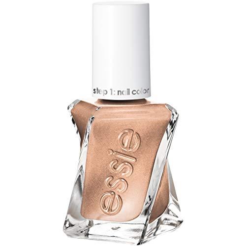 essie Gel Couture 2-Step Longwear Nail Polish, Daring Damsel, Gold Metallic Nail Polish, 0.46 fl. oz.