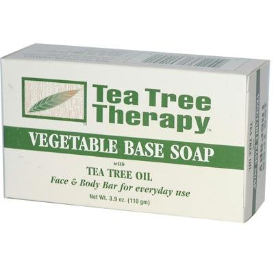 Tea Tree Therapy Vegetable Base Soap with Tea Tree Oil -- 3.