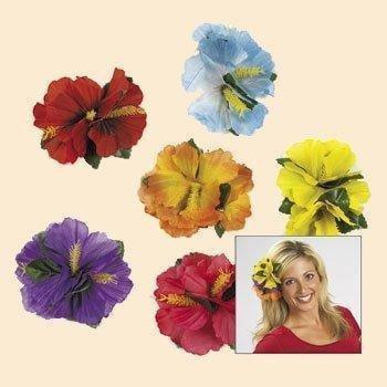 Hibiscus Flower Luau Hair Clips (1 dz)