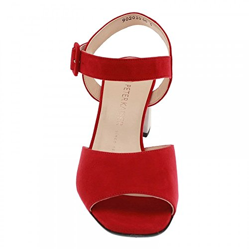 Ortrude Block Kaiser Peter Red Suede Sandal Heel 67PxnR5qw