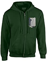 Attack On Titan Survey Corps Adult Zip Hoodie