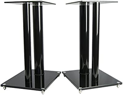 VIVO Premium Universal Floor Speaker Stands Dual Pillar for Surround Sound & Book Shelf Speakers