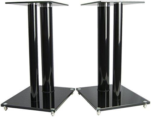 VIVO Premium Universal Floor Speaker Stands Dual Pillar for Surround Sound & Book Shelf Speakers (STAND-SP01B) by VIVO