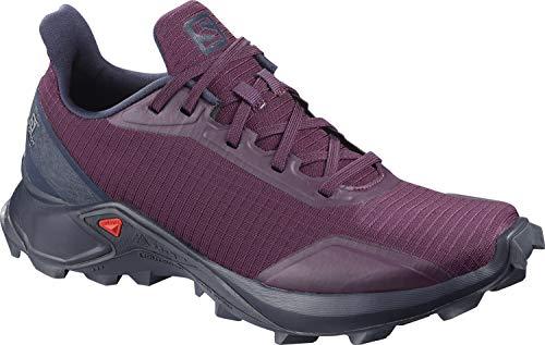 Salomon Women's Alphacross Trail Running Shoes, Potent Purple/Navy Blazer/India Ink, 10
