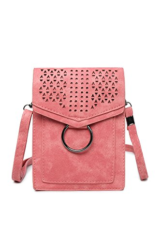 Mini Small Portable Bag Red Cell Purse women Wallet Bags Rose Fringe for Crossbody Phone qF6ZZ