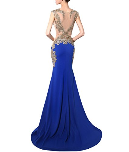 Long Embroidery Prom Mermaid Blue Evening Gowns Bridal Dresses Annie's Women's tEwPqZO