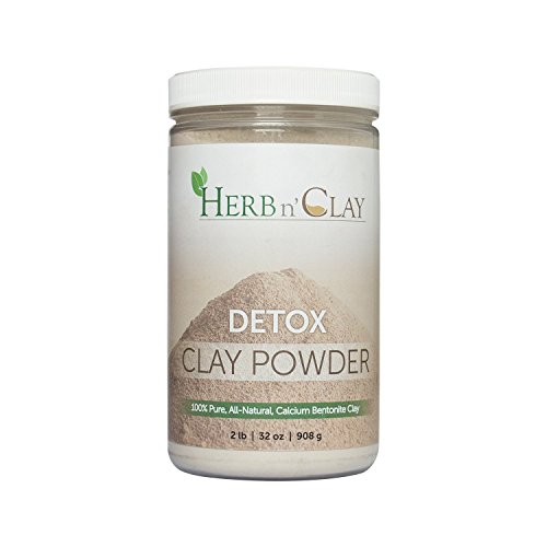 Amazon.com : Herb n Clay 100% Natural Calcium Bentonite Detox Clay Powder 32 Ounce (2 Pound) - for Detoxification, Colon Cleanse, Body Balance and Energy, ...