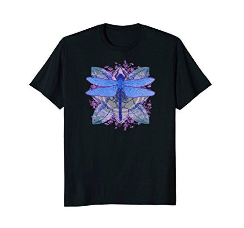 Vintage Dragonfly Ornate Pattern Art Nouveau T-Shirt