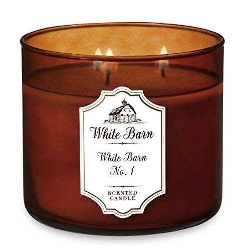 - Bath and Body Works White Barn No. 1 - The Original White Barn Candle - Nutmeg, Cinnamon, Chestnut - Large 14.5 Ounce 3-Wick Candle