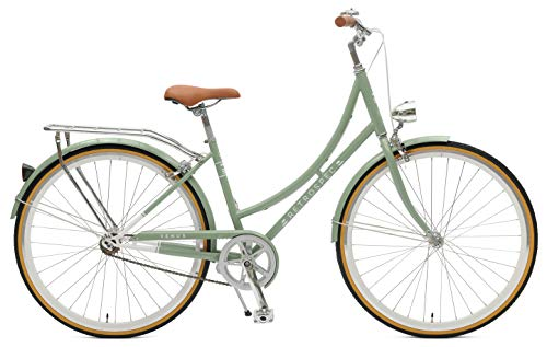Retrospec Bicycles 2045 Step-Thru Frame Venus-7 Seven-Speed Urban Commuter City Bicycle, Mint, 38cm Small