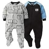 Gerber Baby Boys 2-Pack Blanket Sleeper, gray