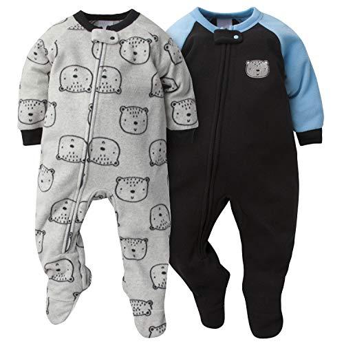 GERBER Baby Boys 2-Pack Blanket Sleeper, Gray Bear, 18 Months