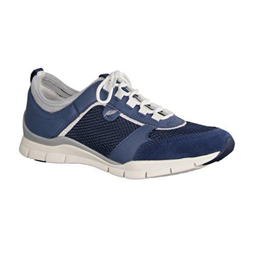 Geox D L SUKIE D52F2B 01443 C4008 donna laccio semi scarpa sportiva d'acero, Blu (Blu (Blu)), 37