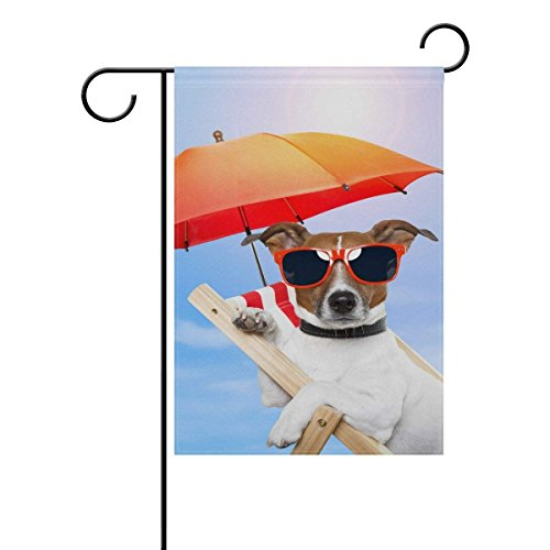 Summer Beach Theme Animal Dog Garden Flag 12 X 18 Large Inch