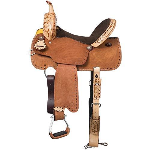 Royal King Reno Buck Stitch Barrel Saddle 15in