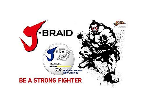 (Daiwa, J-Braid x4 Braided Line, 3000 Yards, 80 lbs Tested.014