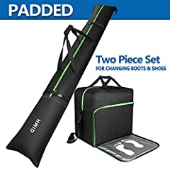 - Material: Water resistant nylon Combo Package Includes: 1 x QiMH Ski Bag 1 x QiMH Boot Bag