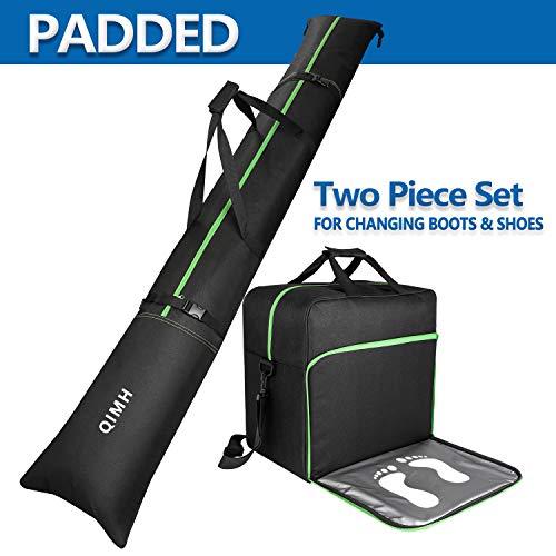 QiMH Padded Ski Bag & Boot Bag Combo