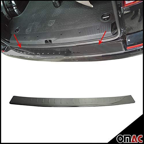 Protezione paraurti nero in acciaio inox cromato porta singola smussatura. OMAC GmbH