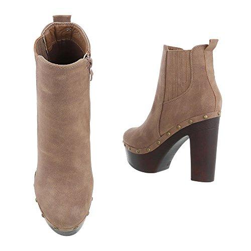 Ital Design Women's Light Brown Schlupfstiefel awr7pxaFq