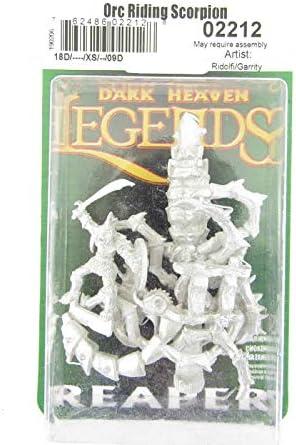 Reaper Miniatures Orc Riding Scorpion 02212 Dark Heaven Legends Unpainted Metal
