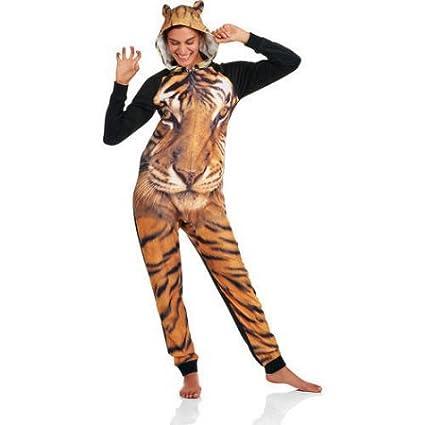 97443bb6f017b Amazon.com   Secret Treasures Women s Assorted Character Sleepwear Adult  Onesie Costume Union Suit Pajama ( Black Soot Tiger)Size  S)   Everything  Else