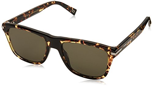Marc Jacobs Women's Flat Top Sunglasses, Crystal Havana/Green, One - Green Jacobs Sunglasses Marc