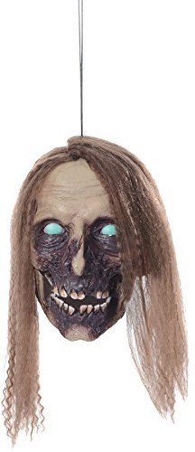 [Undead Cathy Hanging Head Halloween Prop Haunted House Yard Scary Garden Decor] (Hanging Halloween Props)