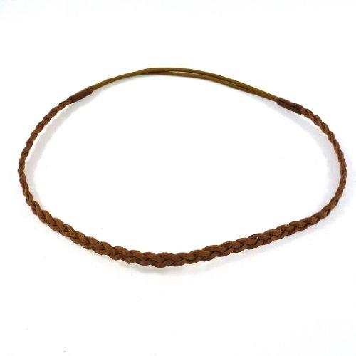 Rougecaramel Haarband, Wildlederimitat, geflochten, Camel