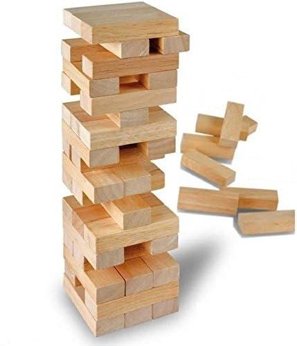 real wood games Torre de Madera apilable para niños Familia Tradicional Juego de Mesa 48 PCE: Amazon.es: Hogar