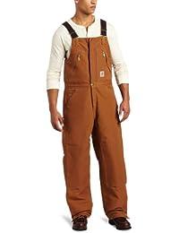 Men's Quilt Lined Zip To Waist Bib Overalls R38