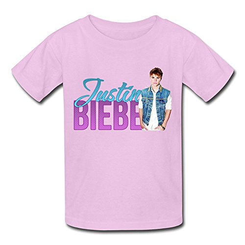 ambom-youth-justin-bieber-kids-boys-and-girls-short-sleeves-t-shirt-size-m-pink