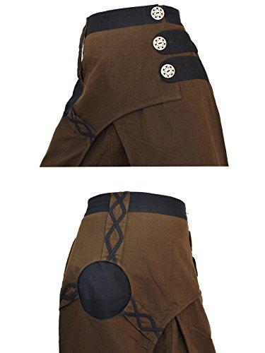 Haremshose, Aladinhose, Boho, Nepal Style, Handarbeit, Braun