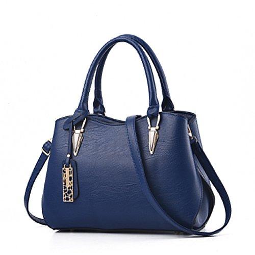 Blue Portable Casual Ladies Zonlin Handbag for Bags Messenger Dark Women Bag Shoulder PwOwqSC