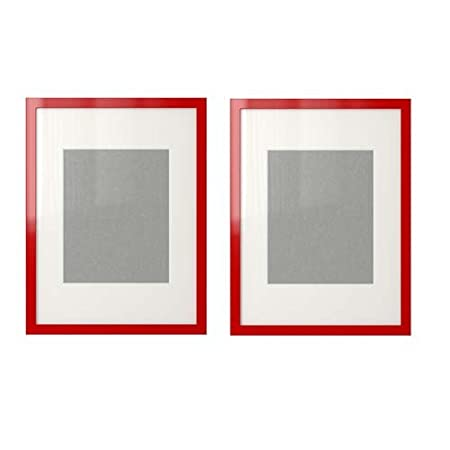 Set of 2 Ikea Ribba Frame ,High Gloss Red Fits 10x8 Photo: Amazon.co ...