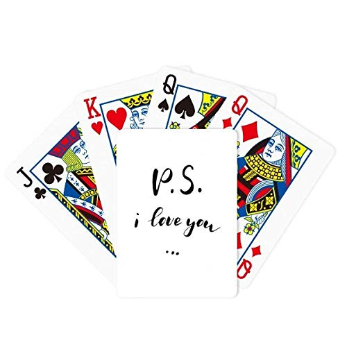DIYthinker P.S. I Love You Quote Handwrite Poker Playing Card Tabletop Board Game