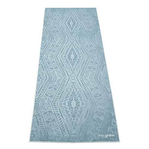 YOGA DESIGN LAB | The HOT Yoga Towel | Premium Non Slip Colorful Towel | Designed in Bali | Eco Printed + Quick Dry + Mat Sized | Ideal for Hot Yoga, Bikram, Ashtanga, Sport, Travel! (Ikat) (Travel Towel Bamboo)