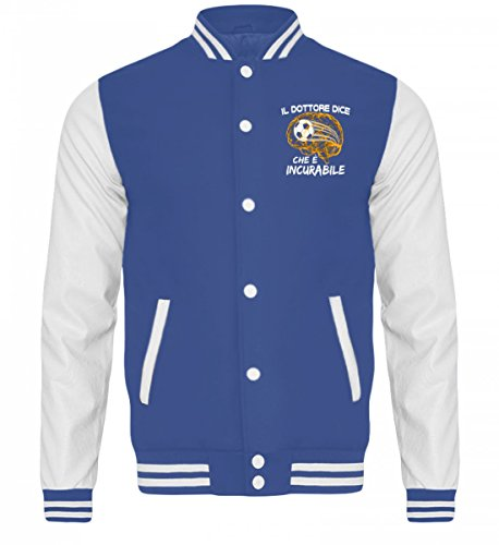 Royal College Calcistico Sudore Incurabile Giacca Pallina Shirtee white Blue CxYqFwSX