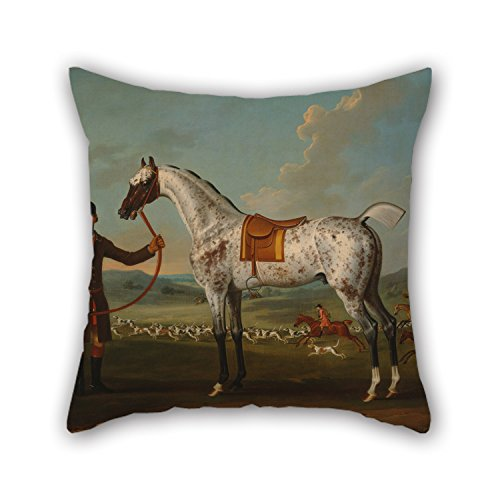 Uloveme 18 X 18 Inches / 45 By 45 Cm Oil Painting Thomas Spencer - Scipio, A Spotted Hunter, The Property Of Colonel Roche Pillow Cases ,both Sides Ornament And Gift To Husband,dance Room,dining (Colonel Costume For Kids)