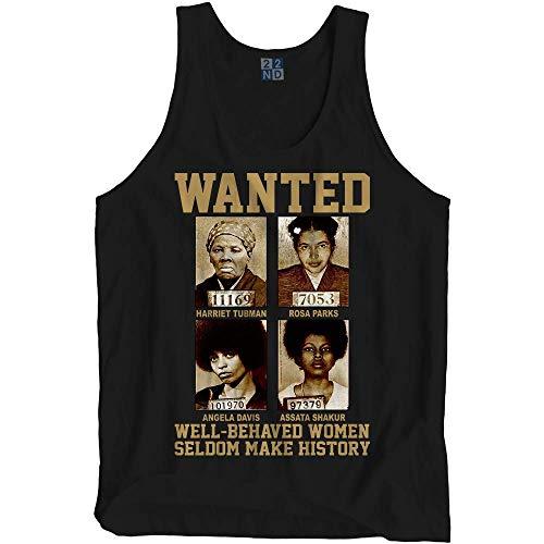 (Wanted Well Behave Women Seldom Make History T-Shirt Harriet Tubman Rosa Parks Angela Davis Assata Shakur Black Lives Matter)