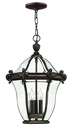 Hinkley 2442CB Traditional Three Light Hanging Lantern from San Clemente collection in Copperfinish,