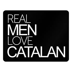 Idakoos Real men love Catalan - Languages - Plastic Acrylic