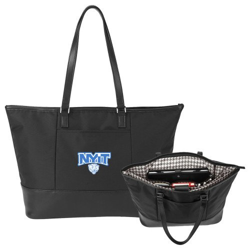 NYIT Stella Black Computer Tote 'Primary Mark' by CollegeFanGear