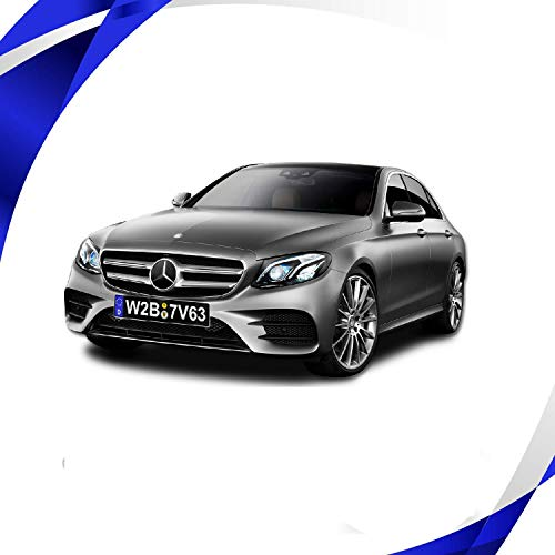 DealsPlaza License Plates European Style Aluminium Embossed Printing Black Blue Embossed Number and Letters Printing NOT Sticker German License Plates. - Plate Number Bmw