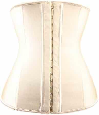 d0e2fb8357955 TRAINER SECRET Women s Waist Trainer Corset Plus Size Steel Boned Latex for  Weight Loss Body Shaper