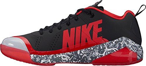 Nike Mænds Kraft Zoom Ørred 4 Græs Baseball Trænere Os) Sort / Rød M8RWzP