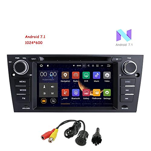 Freenavi for BMW 3 Series E90 E91 E92 E93 Android 7.1 Car DVD Player GPS 7 Inch Touch Screen Car Stereo In-Dash DVD Player with GPS Navigation CANbus