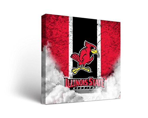 Victory Tailgate Illinois State University ISU Redbirds Canvas Wall Art Vintage Design (Illinois University Framed)